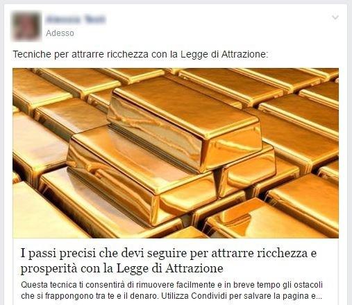 Guadagna Promuovendo La Scienza Della Prosperità su Facebook